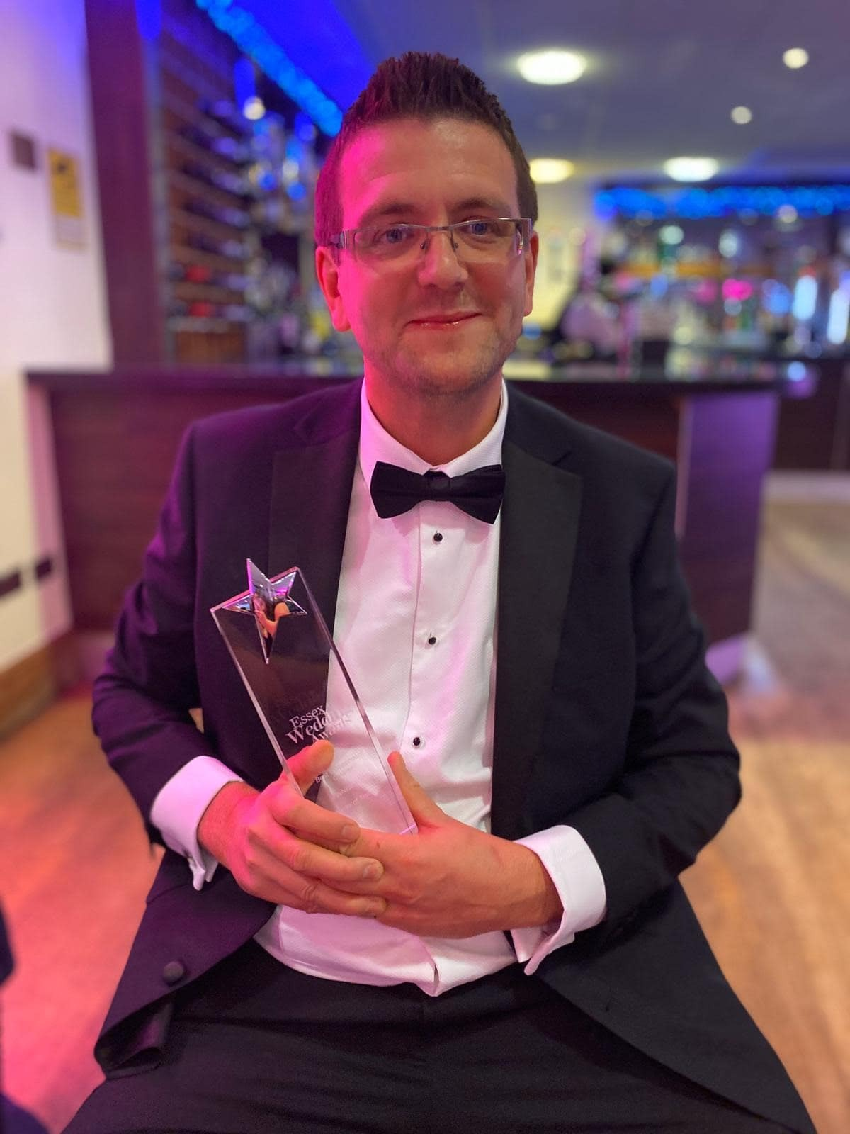 catering companies Essex Dave accepts award